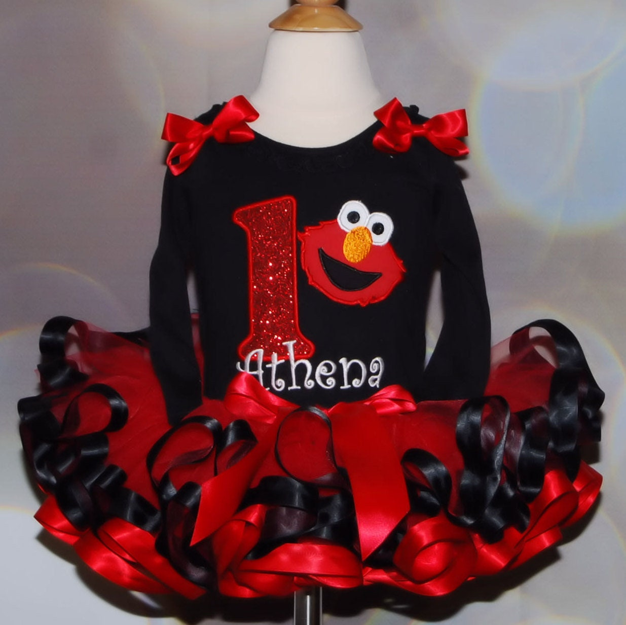 Elmo 1st Birthday Tutu Outfit elmo tutu outfit girl birthday tutu dress sesame street birthday cake smash outfi 1st birthday outfit girl