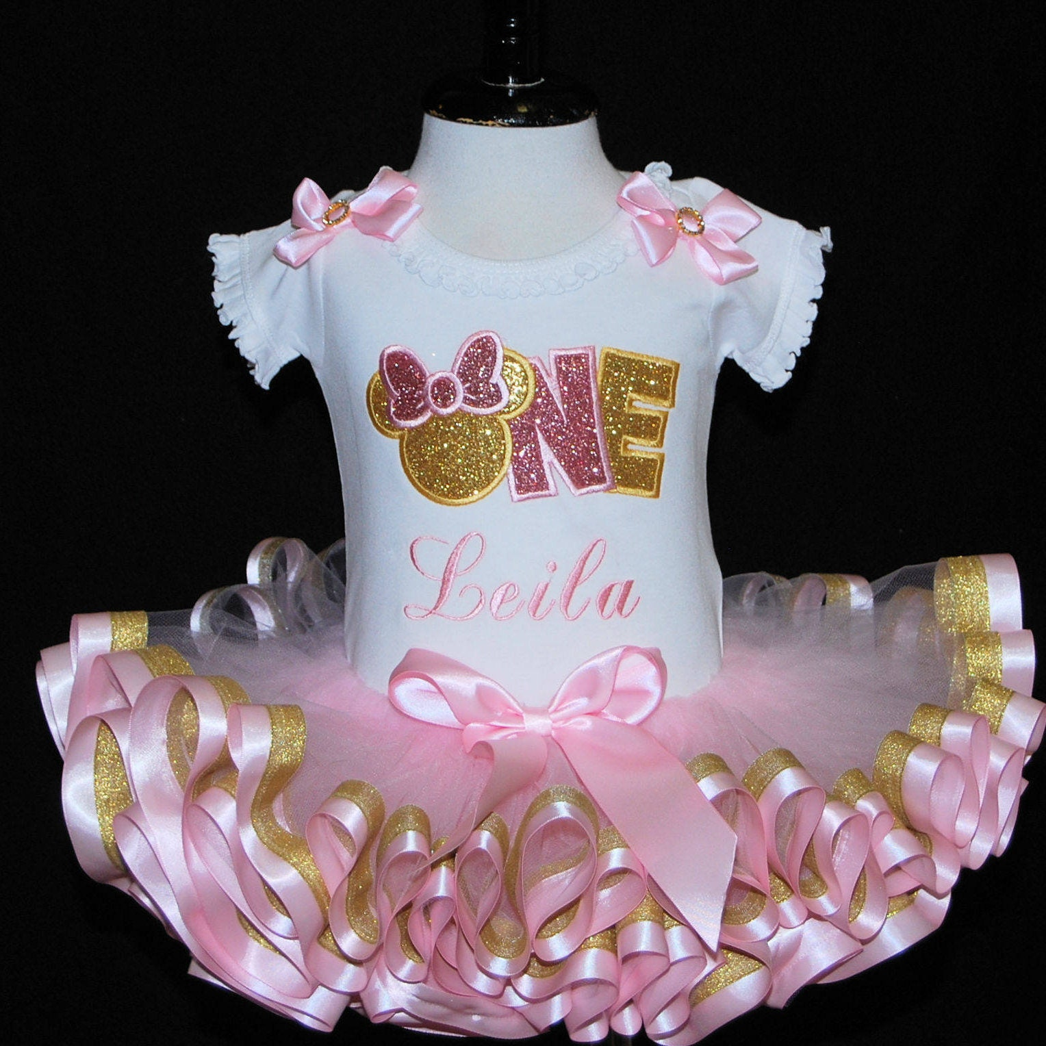 baby girl 1st birthday outfit, personalised, smash cake outfit girl, first birthday outfit girl, minnie mouse 1st birthday outfit