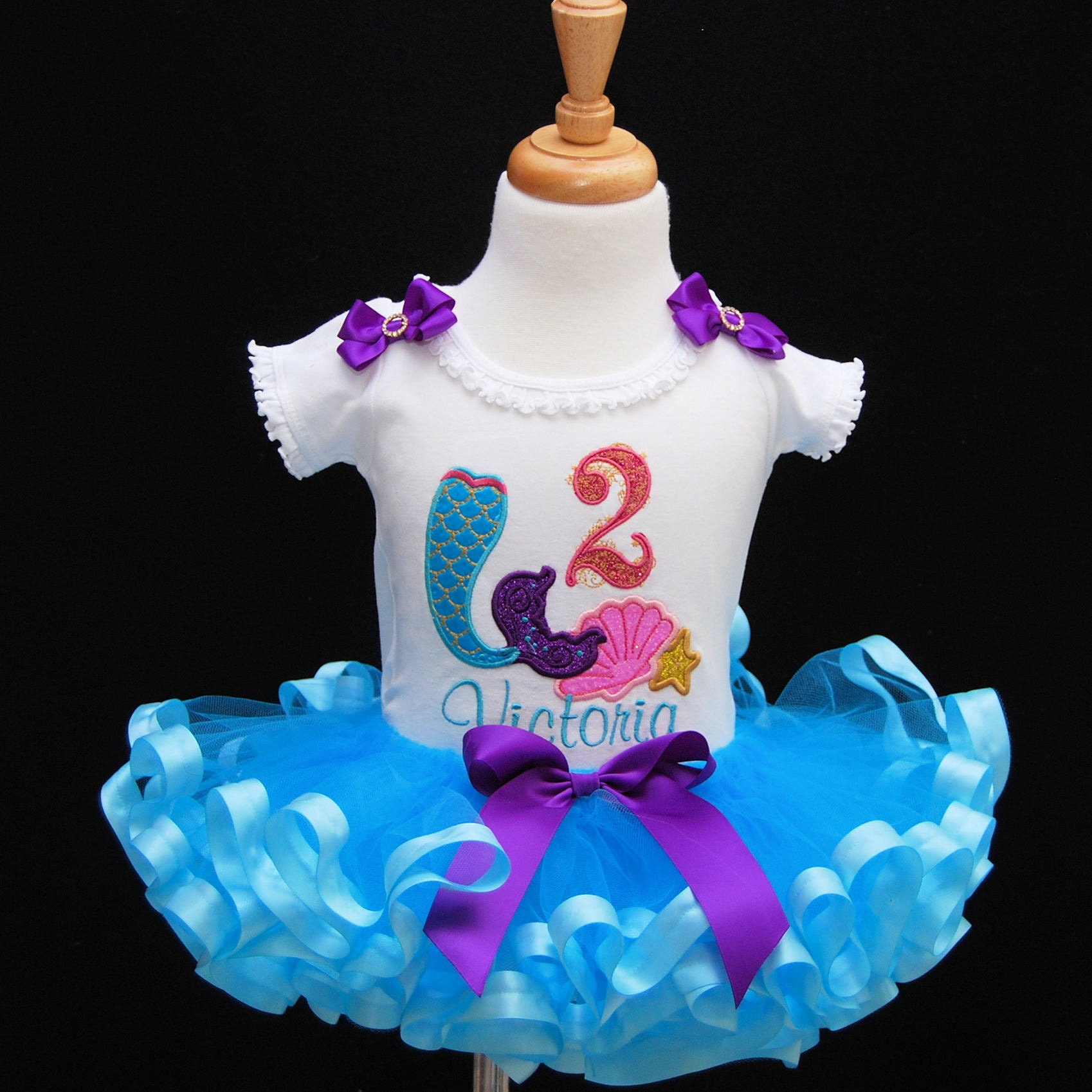 mermaid 2nd birthday outfit, personalized, 2nd birthday girl outfit, second birthday outfit girl, cake smash outfit, mermaid tail,