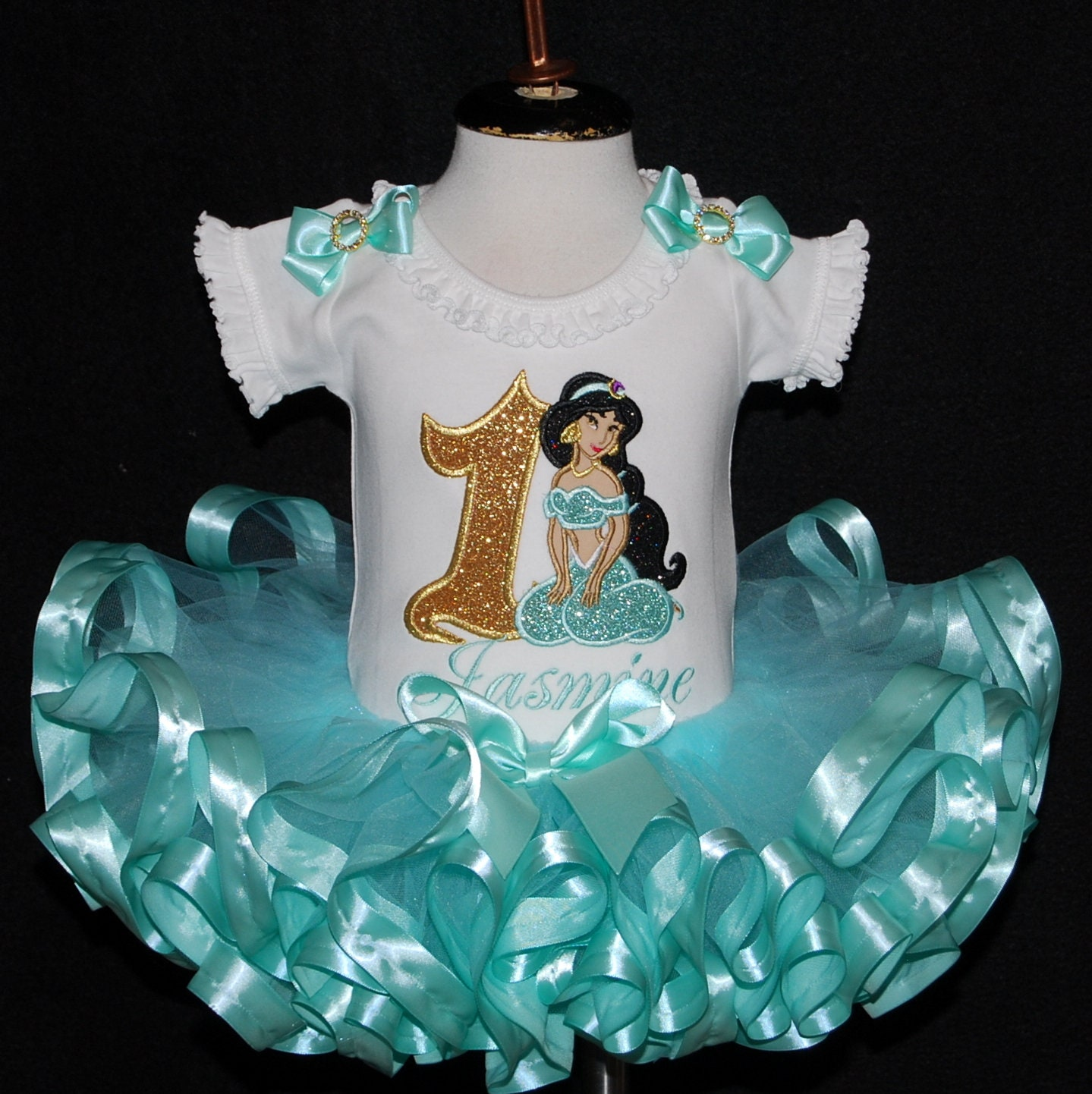 1st birthday girl outfit, Princess Jasmine