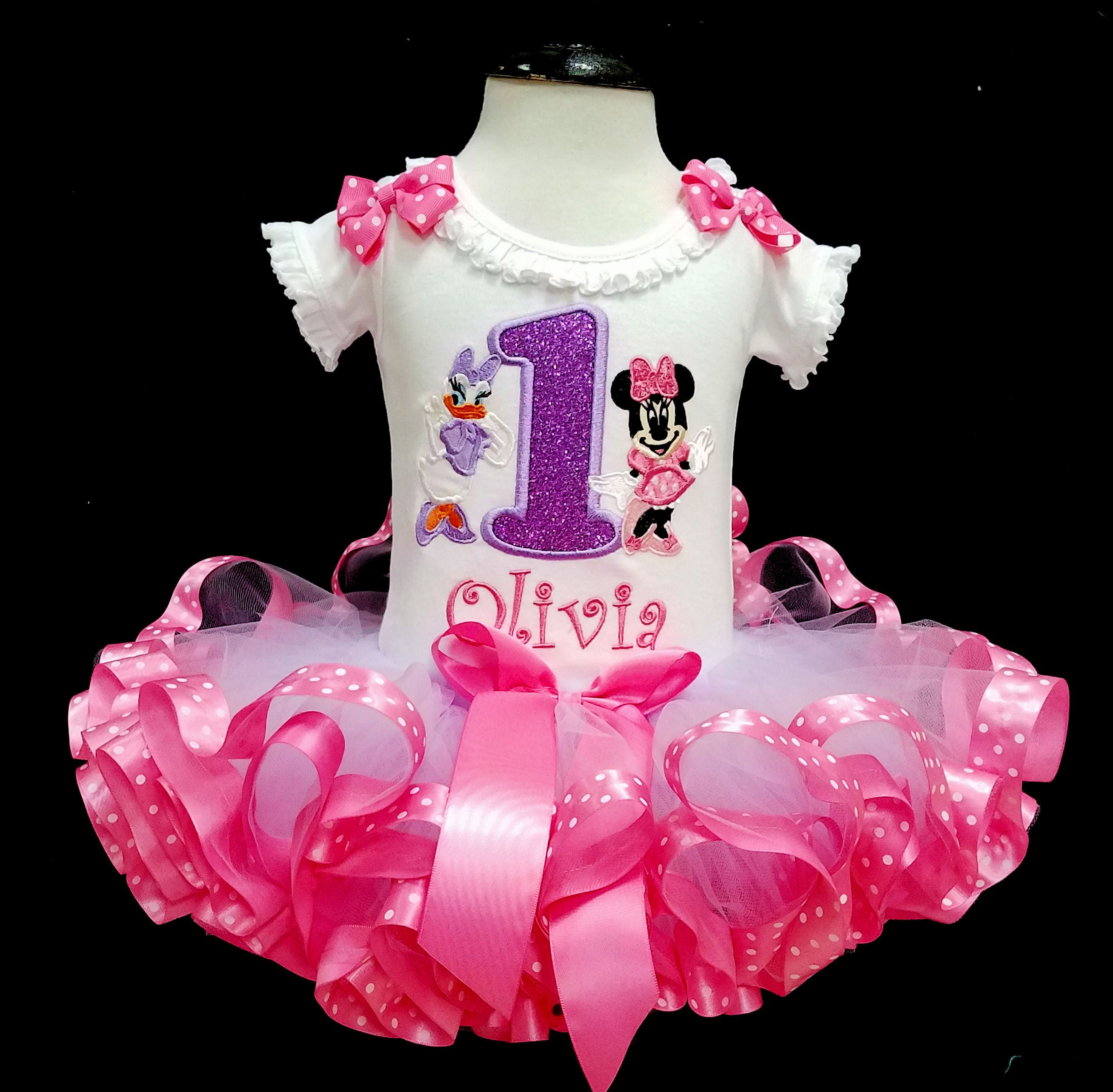 minnie mouse birthday outfit 1st birthday tutu outfit minnie mouse 1st birthday outfit daisy duck minnie mouse shirt ribbon trimmed tutu set