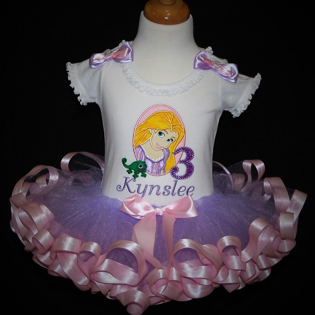 3rd birthday princess outfit personalized 3rd birthday tutu princess birthday shirt 3rd birthday outfit girl Tangled birthday party dress