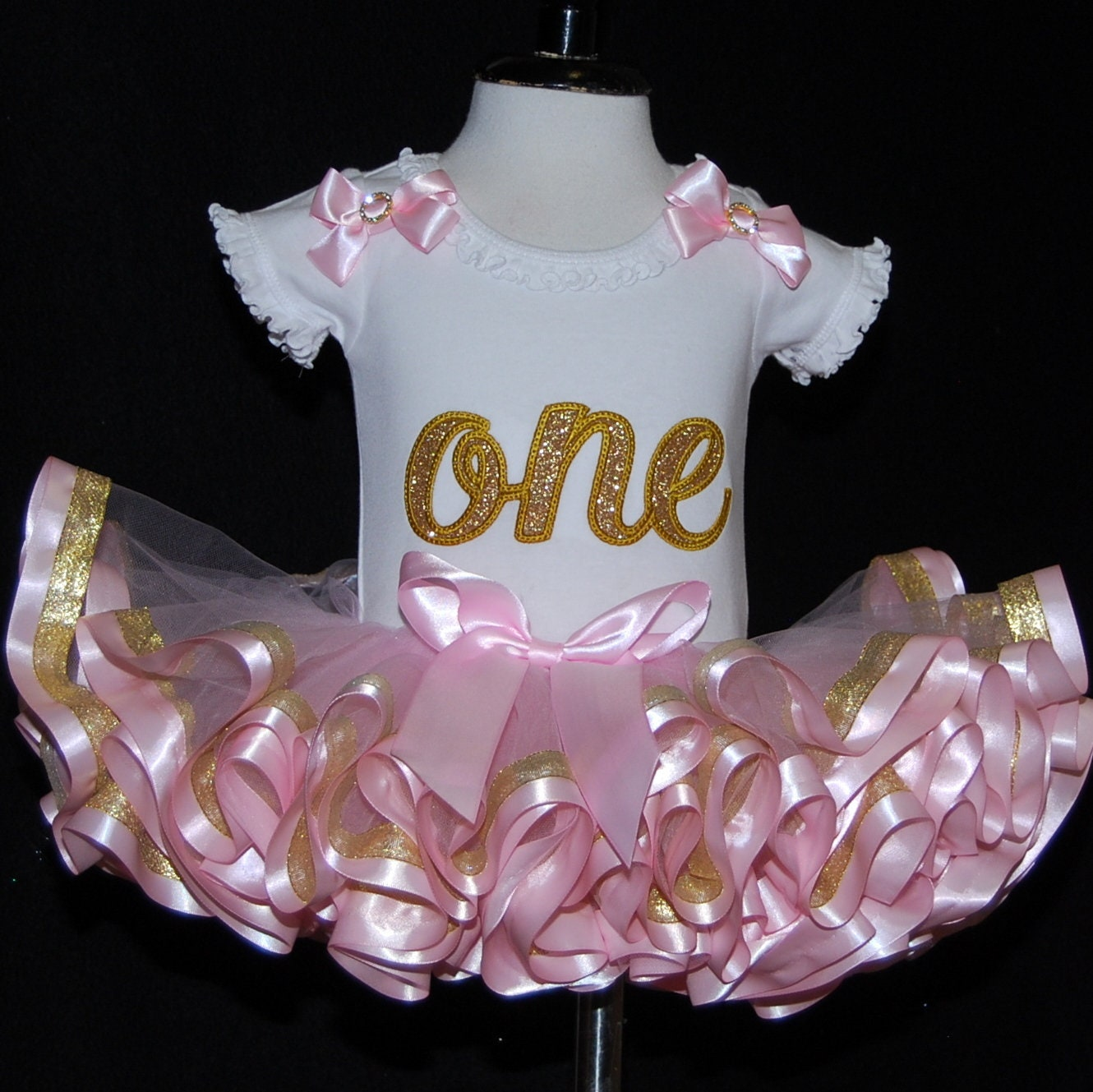 1st birthday tutu outfit princess birthday tutu pink and gold first birthday outfit ribbon trim tutu 1st birthday baby tutu dress bloomers