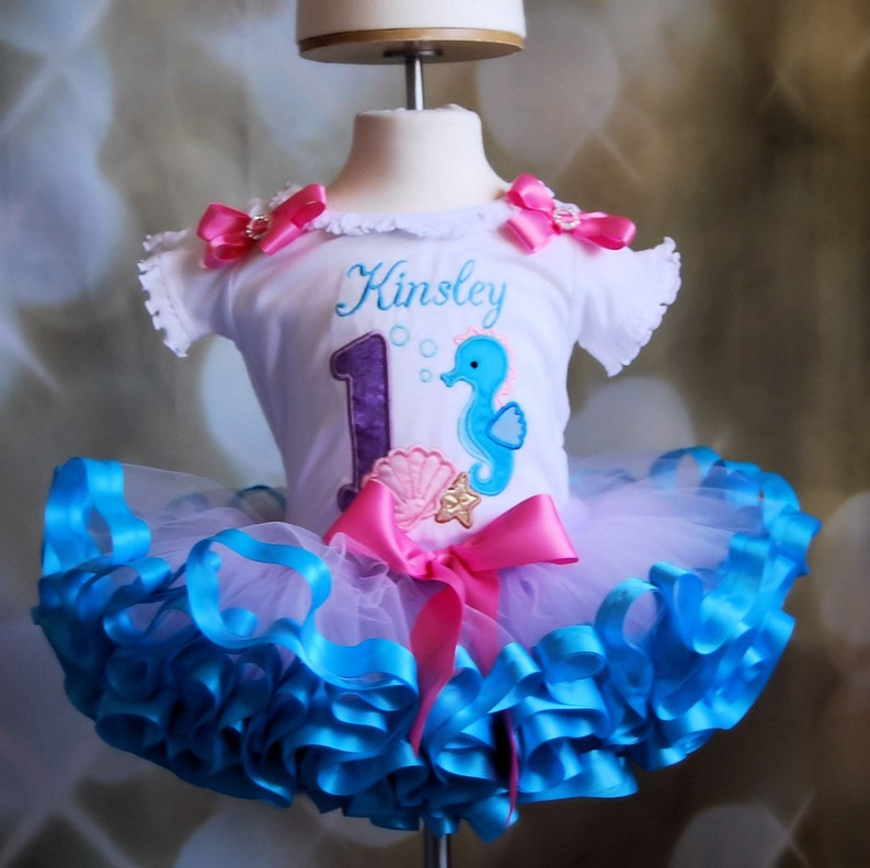 under the sea birthday outfit nautical cake smash outfit girl first birthday tutu outfit personalized little mermaid birthday outfit