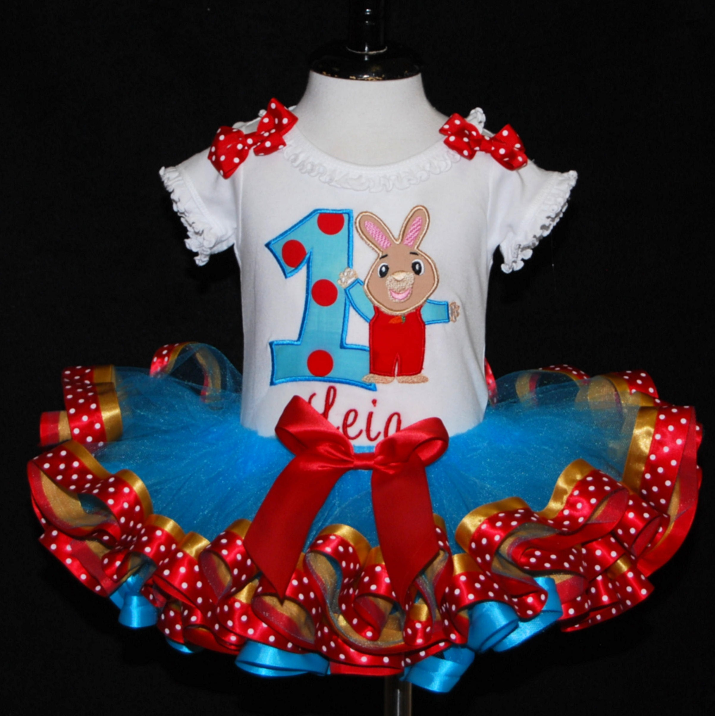 1st birthday girl outfit, Harry the Bunny