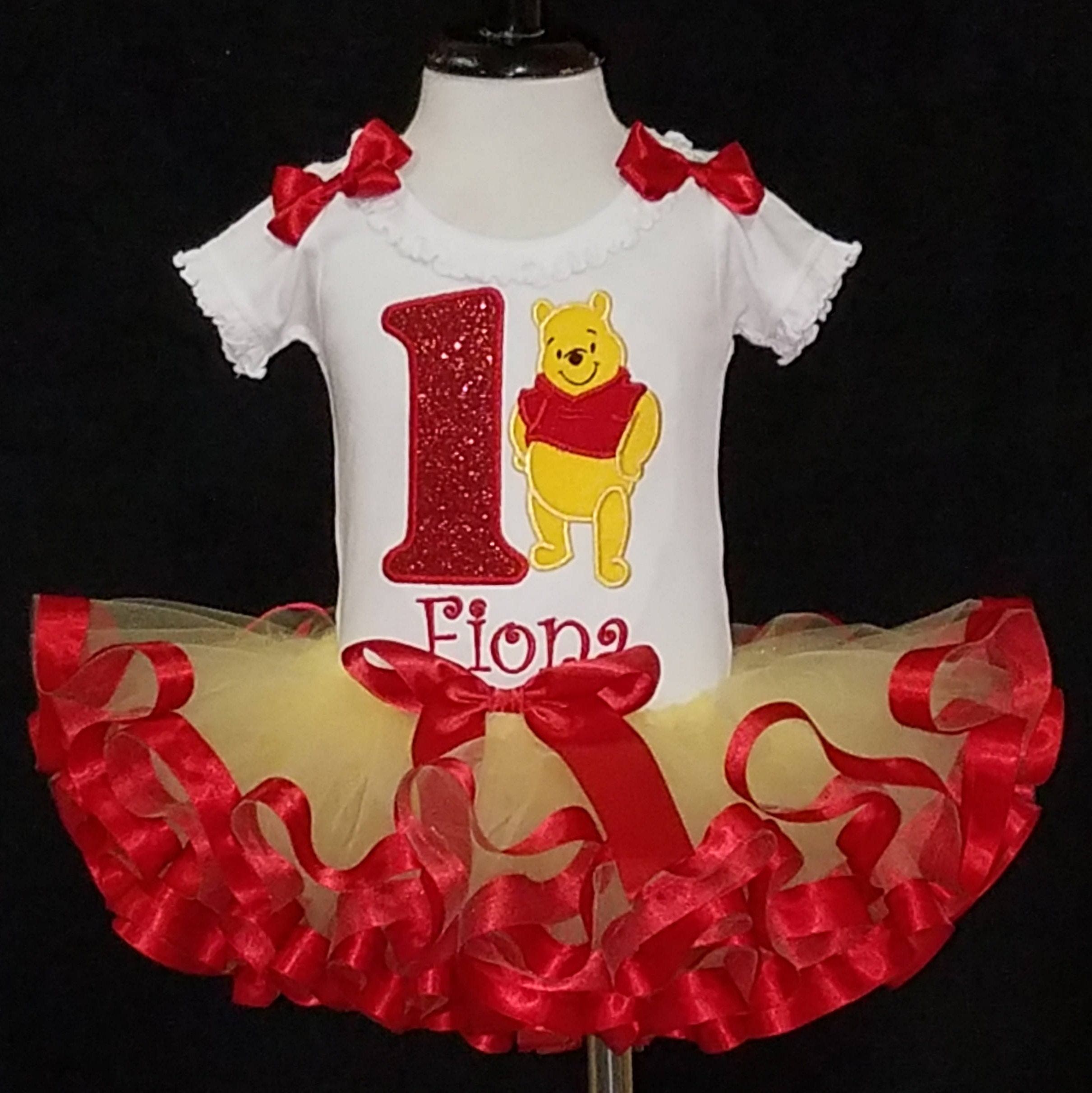 1st birthday tutu outfit Pooh Bear
