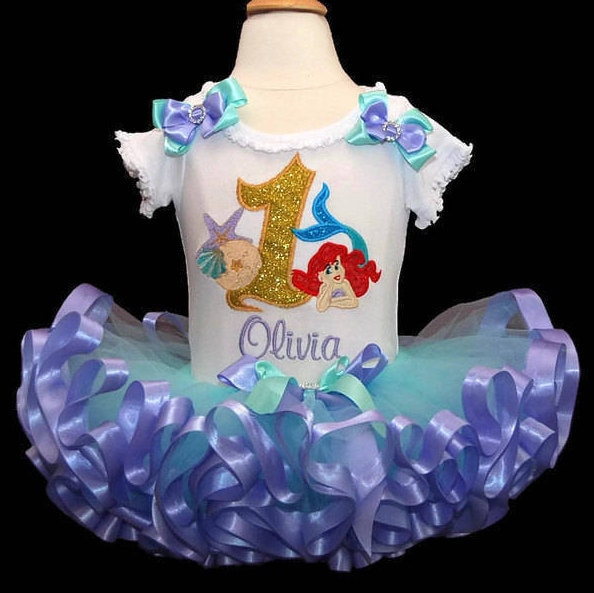 baby girl 1st birthday outfit, 1st birthday girl outfit, little mermaid, first birthday outfit girl, smash cake outfit girl, Ariel tutu