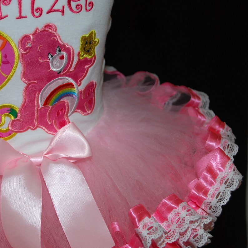 2nd birthday girl outfit birthday tutu dress second birthday tutu outfit care bear birthday shirt ribbon trimmed tutu lace trim bloomers