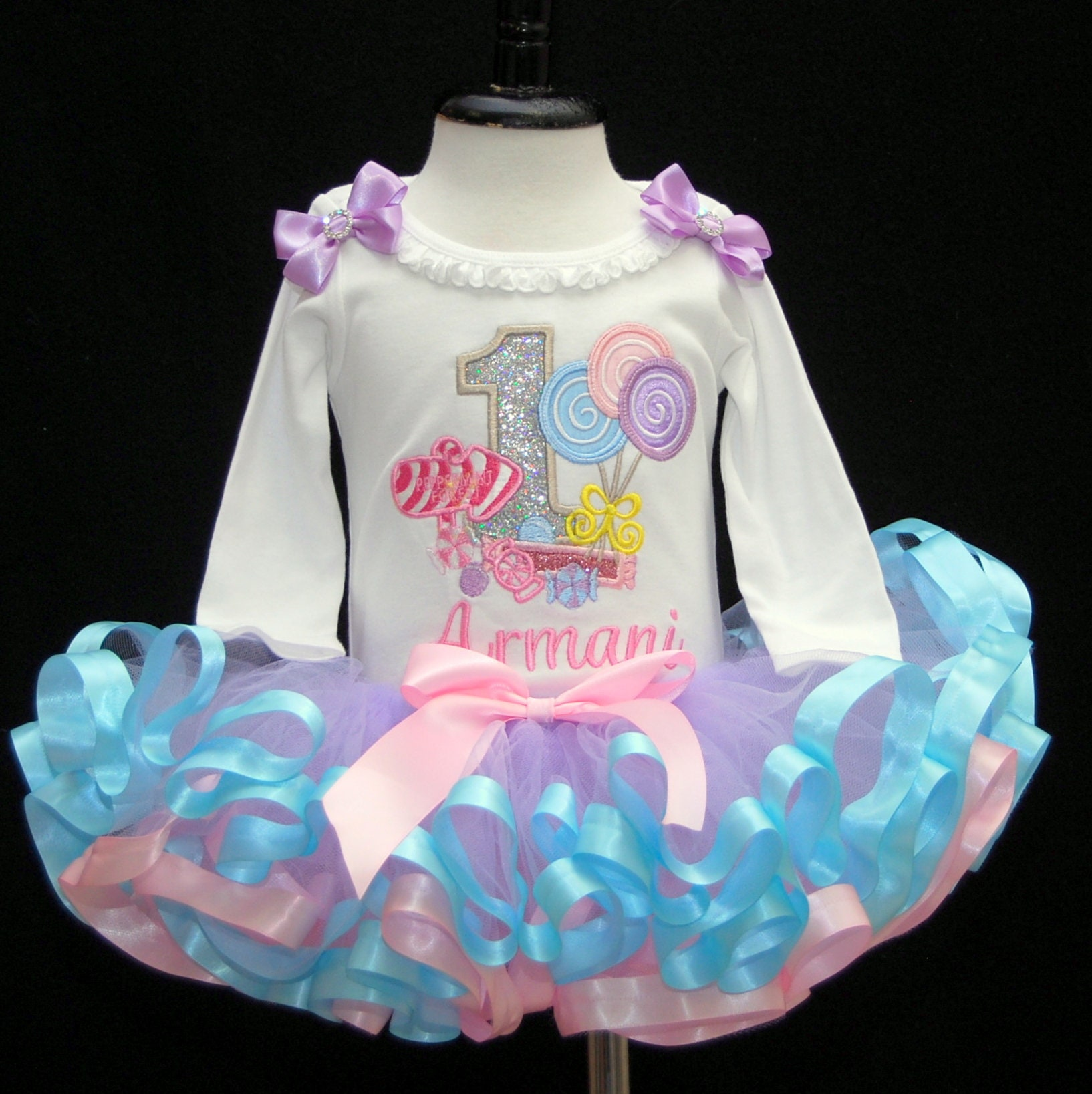 1st birthday girl outfit Candyland tutu outfit