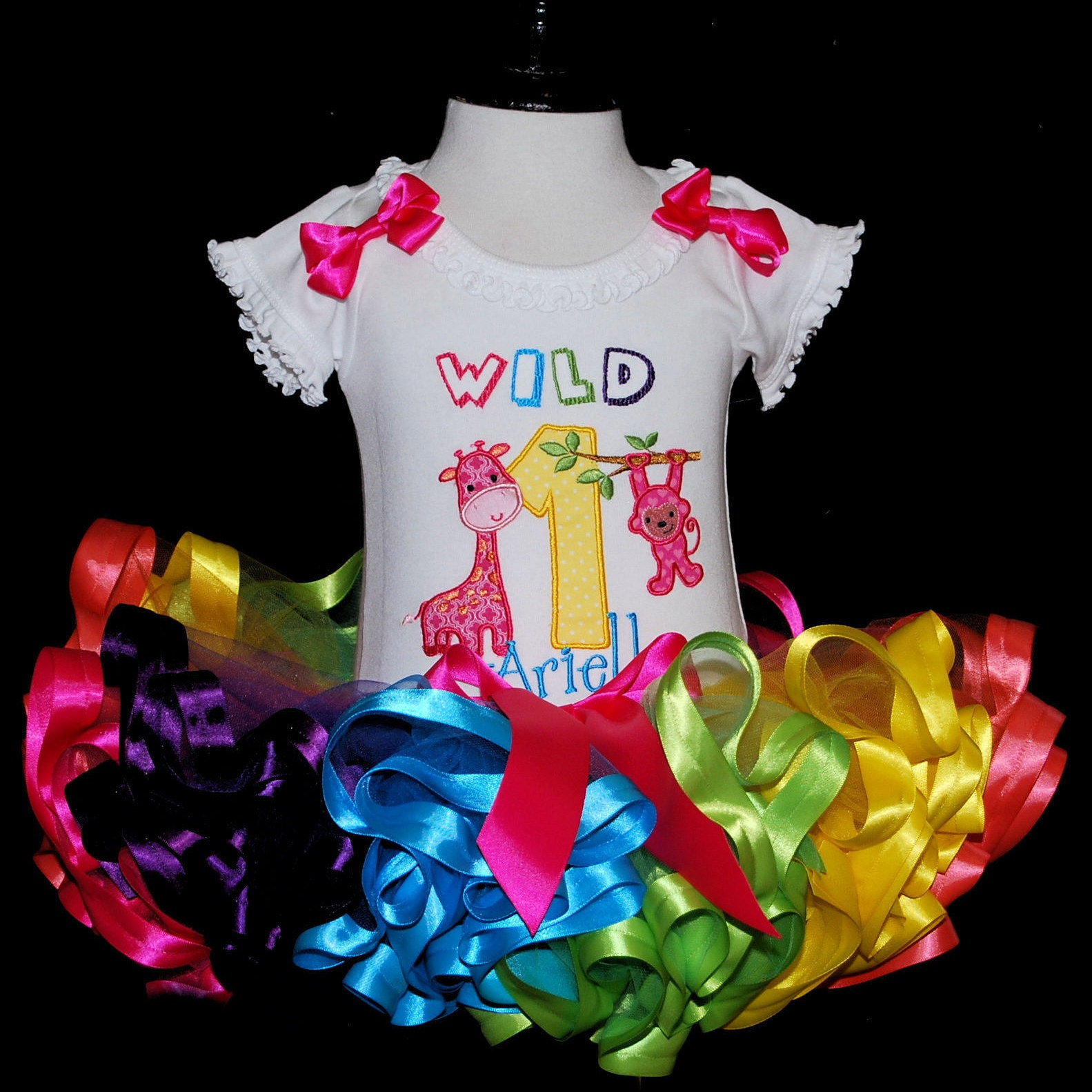 wild one birthday girl outfit jungle first birthday tutu 1st birthday girl outfit first birthday outfit 1st birthday tutu dress animal tutu