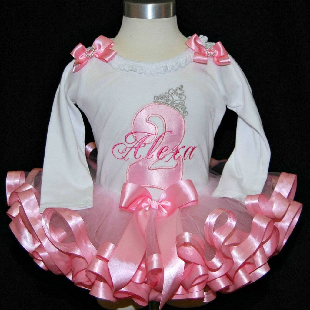 2nd birthday girl outfit, princess birthday shirt, princess tutu outfit girl, cake smash outfit, princess birthday tutu outfit, personalized