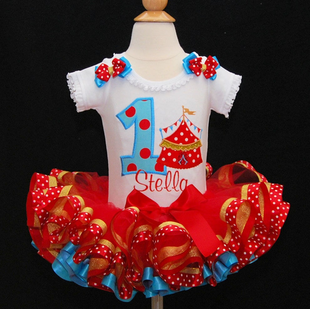 circus themed party tutu dress personalized 1st birthday girl outfit circus birthday outfit first birthday outfit girl cake smash set