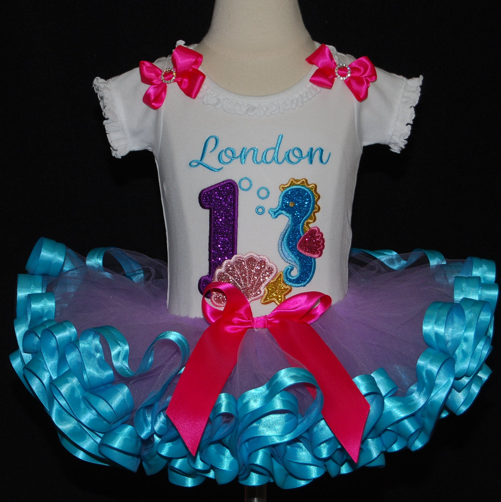 1st birthday girl outfit, Under the Sea Birthday Tutu Outfit, Ocean Theme birthday tutu dress, cake smash birthday set, mermaid birthday