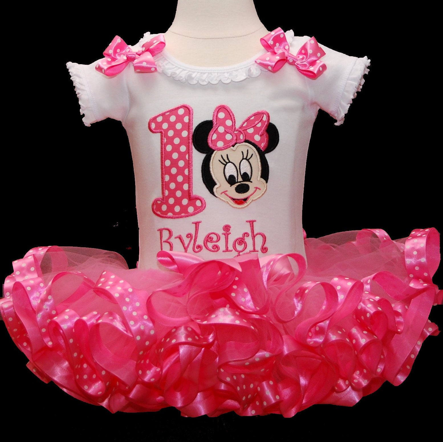 Minnie Mouse BirthdayTutu Outfit Baby Minnie Mouse tutu outfit 1st birthday girl cake smash outfit Minnie Mouse birthday tutu dress bloomers