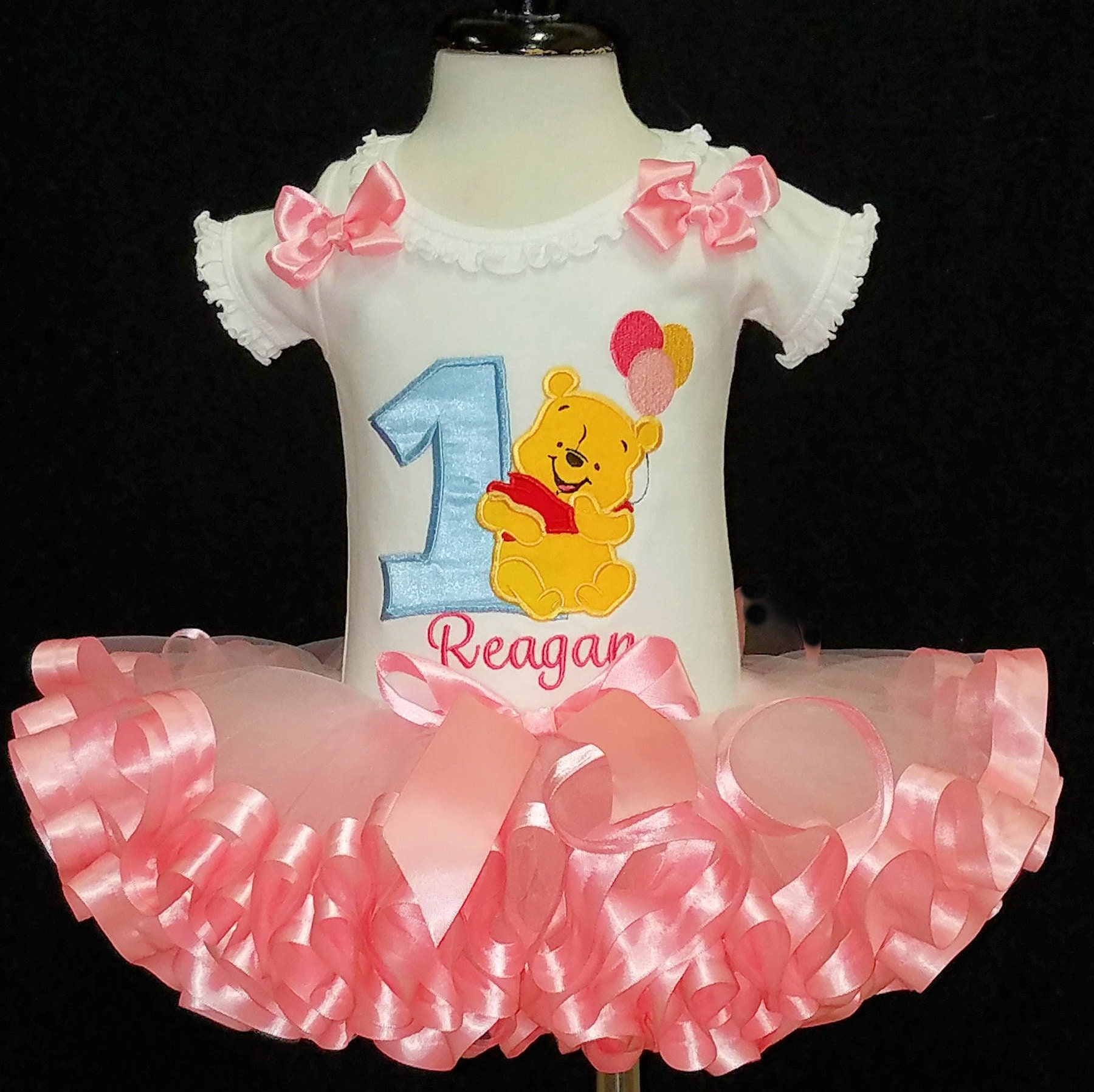 1st birthday girl outfit Winnie the Pooh