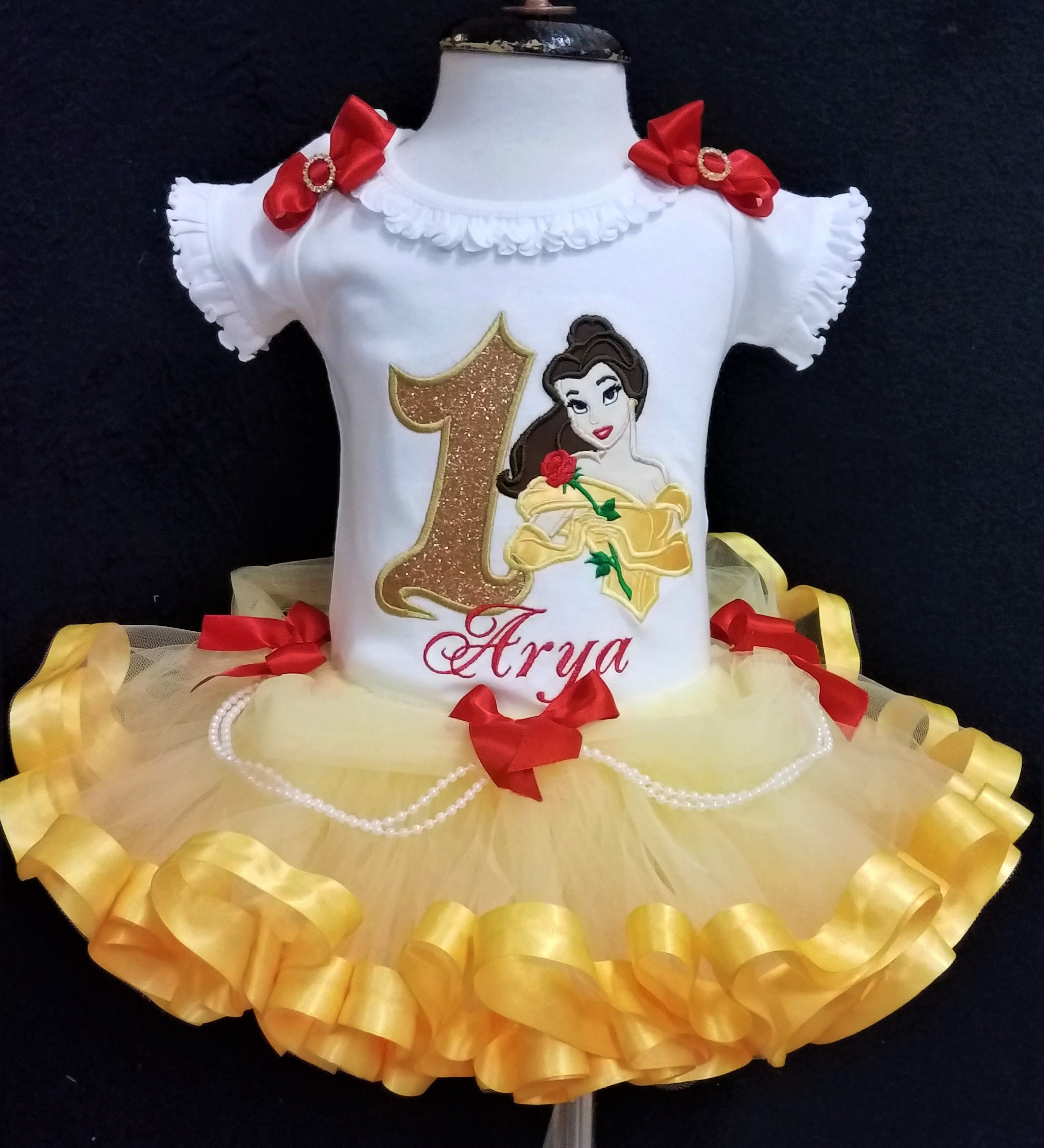 1st birthday outfit Beauty and the Beast, Princess Belle