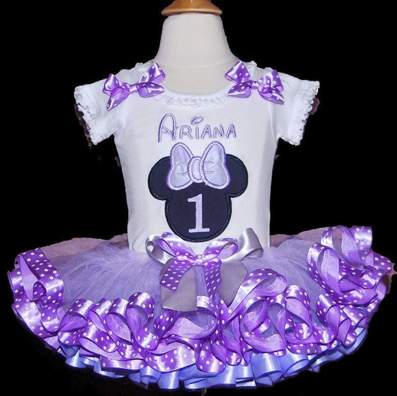 Astounding Minnie Mouse Birthday Outfit For First Birthday Minnie Mouse Etsy Funny Birthday Cards Online Alyptdamsfinfo