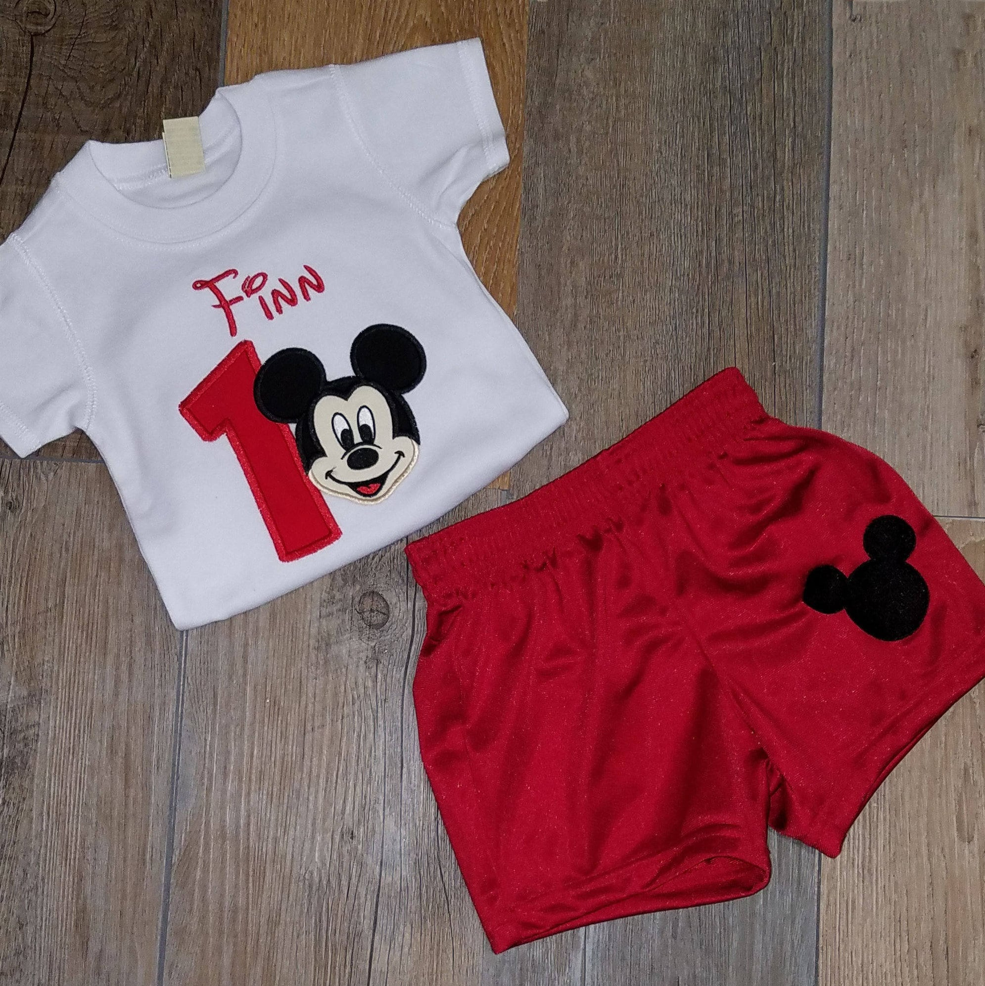 1st birthday boy outfit, Mickey Mouse