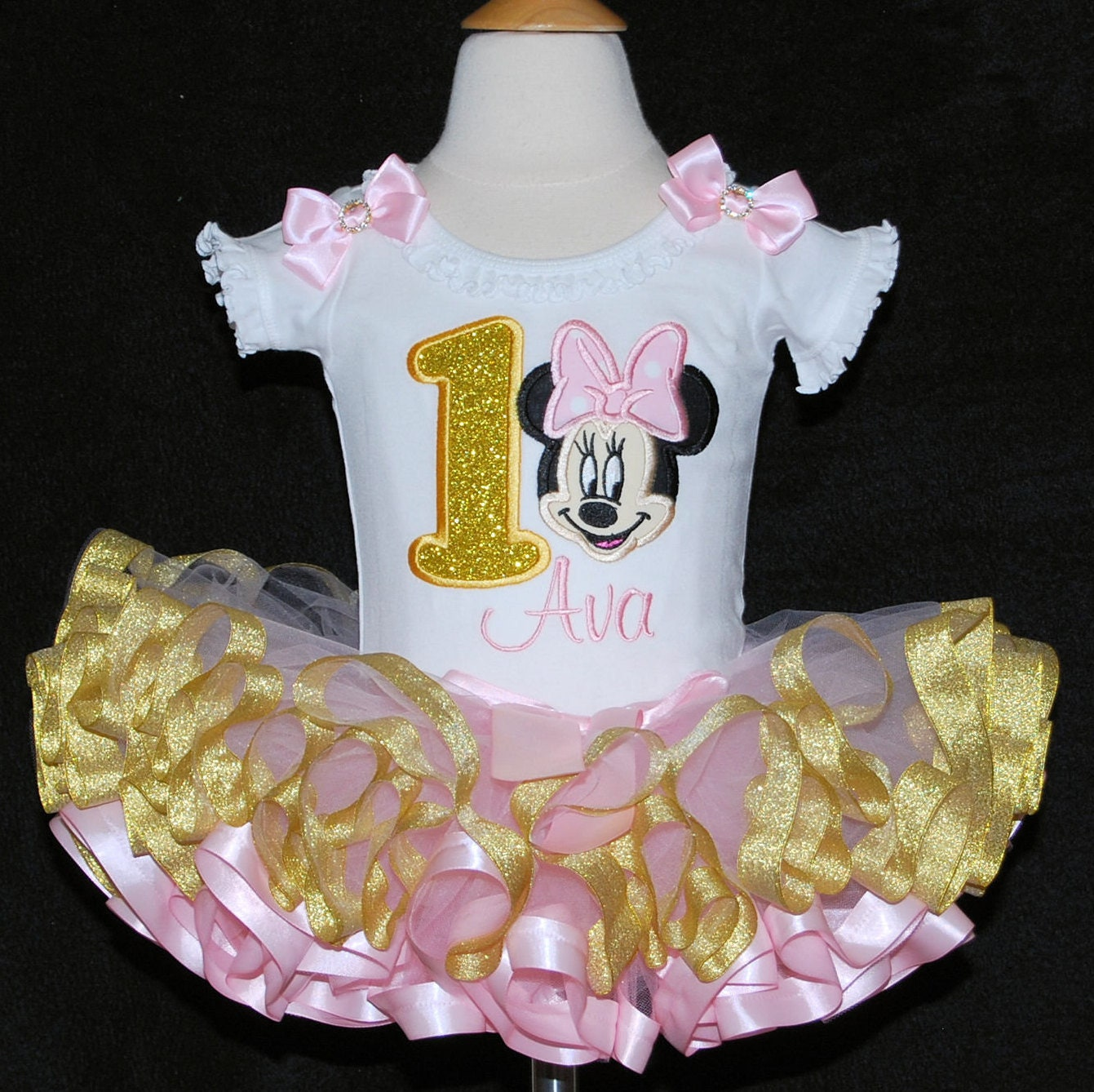 minnie mouse birthday outfit, minnie mouse 1st birthday outfit, minnie mouse 2nd birthday dress, 2nd birthday girl outfit, personalized