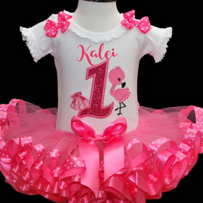 1st birthday outfit flamingo