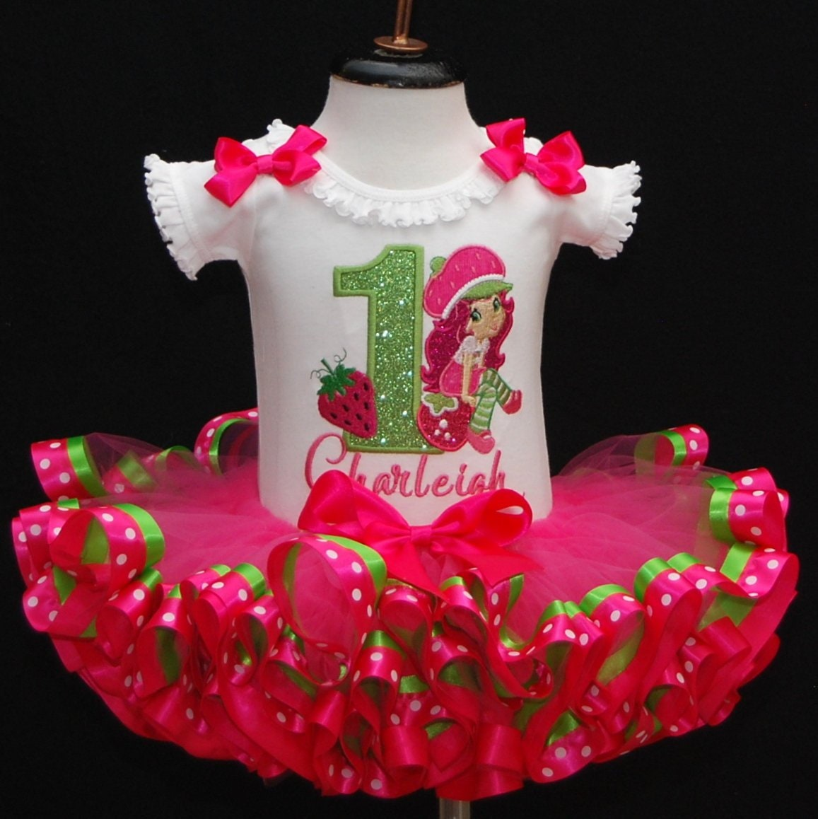 1st birthday girl outfit strawberry shortcake tutu outfit