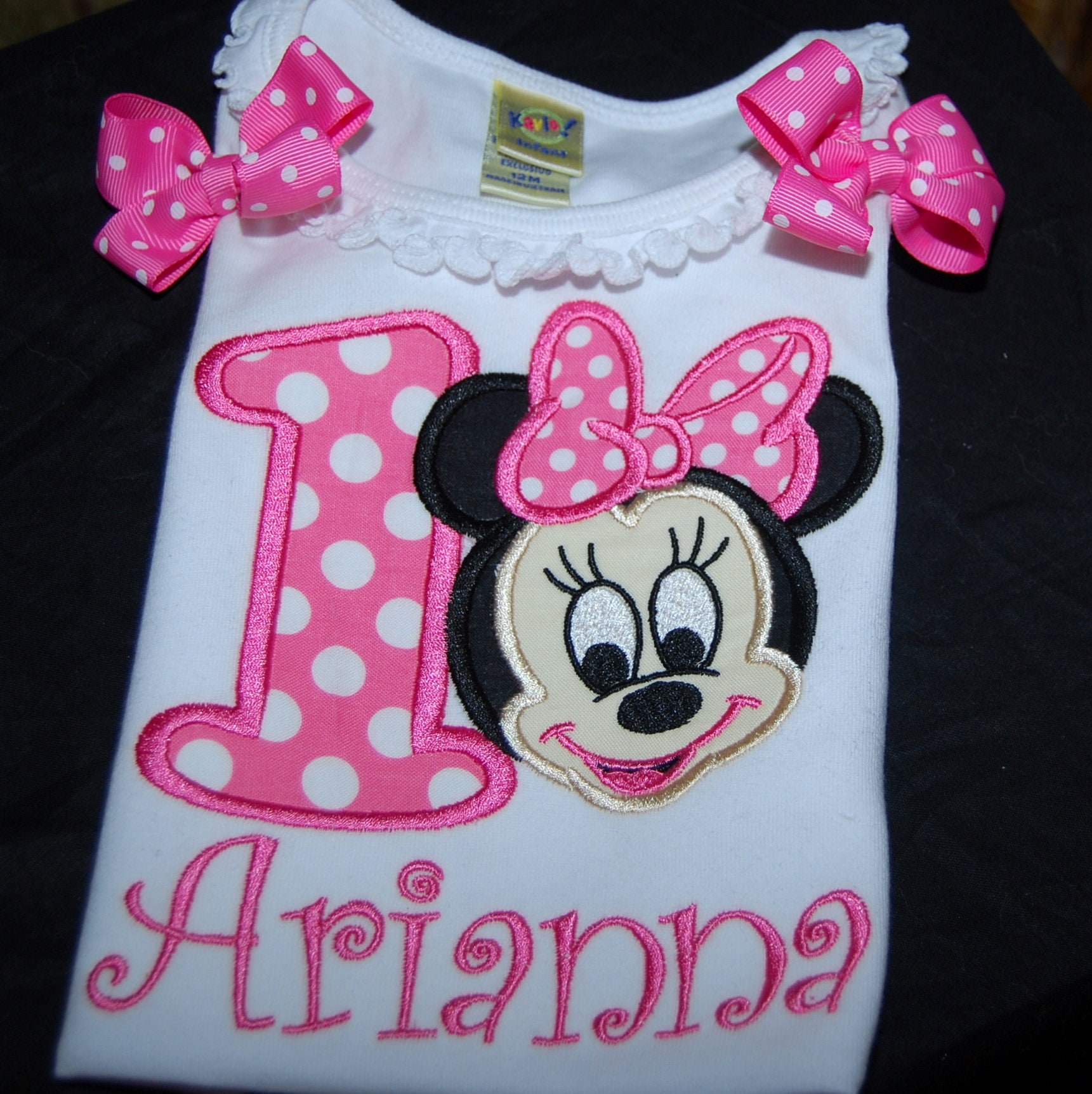 personalized birthday shirt, 1st birthday shirt, Minnie Mouse birthday party, pink birthday shirt baby Minnie Mouse personalized shirt