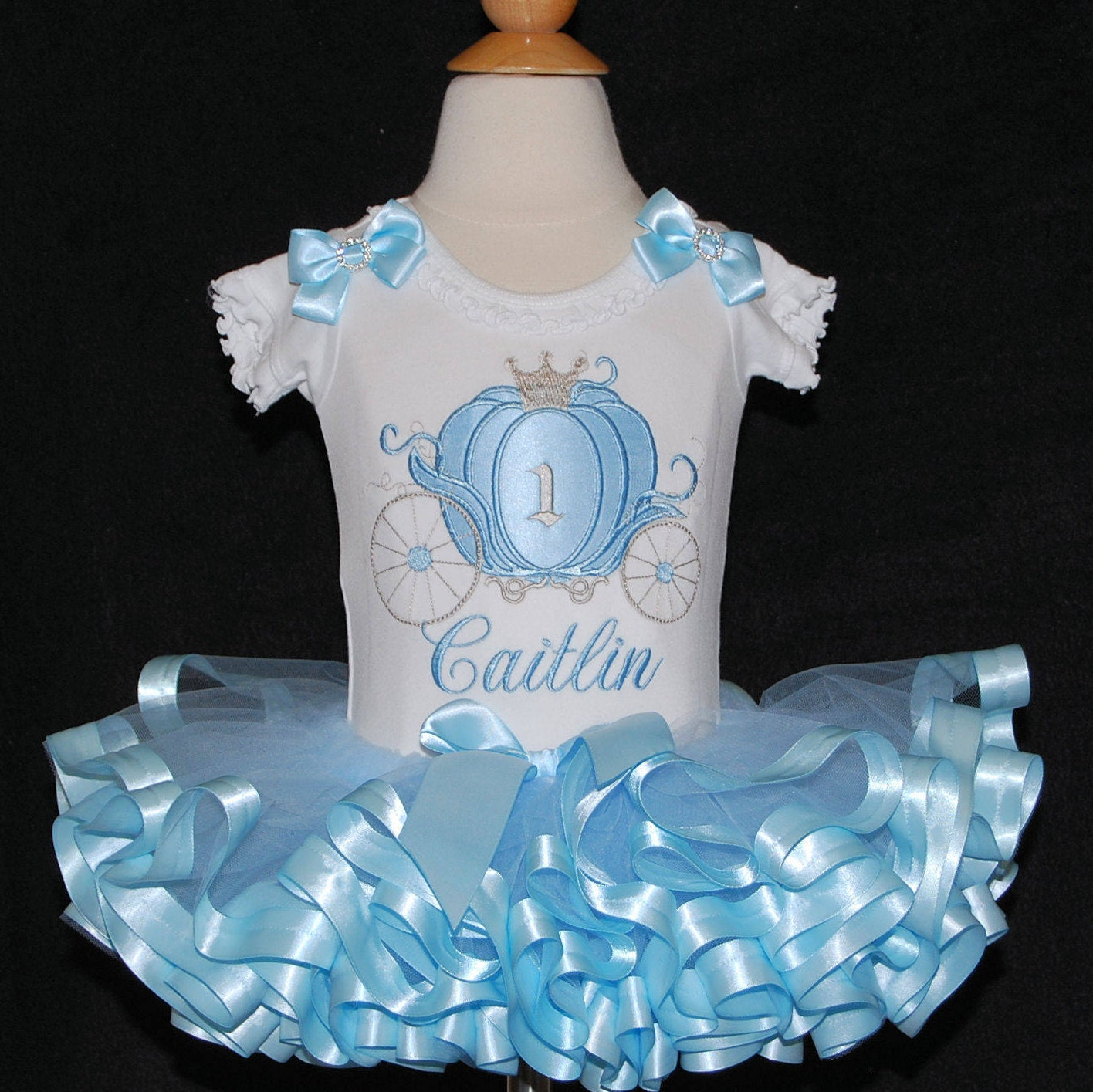 Cinderella carriage princess birthday 1st birthday tutu outfit cake smash 1st birthday girl dress baby tutu Cinderella tutu personalized