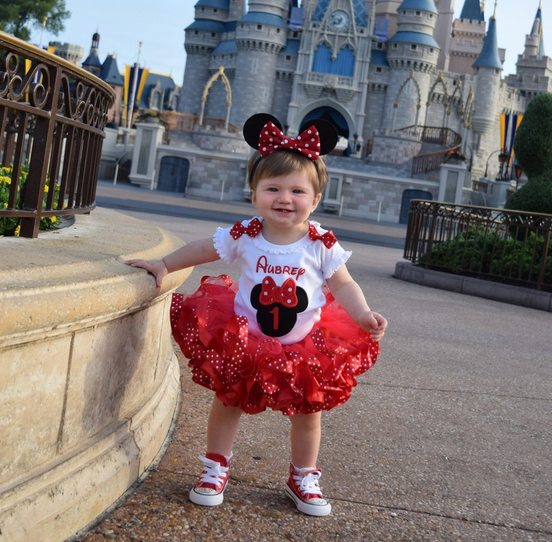 d5a8323c0603 Minnie Mouse 1st Birthday Tutu Outfit 1st birthday girl   Etsy
