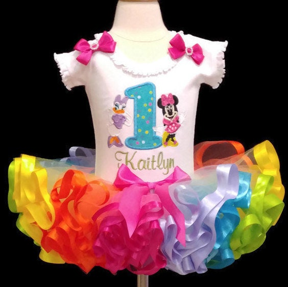 1st birthday outfit, tutu outfit first birthday, Minnie Mouse tutu outfit st birthday, cake smash outfit,  ribbon trim tutu outfit,