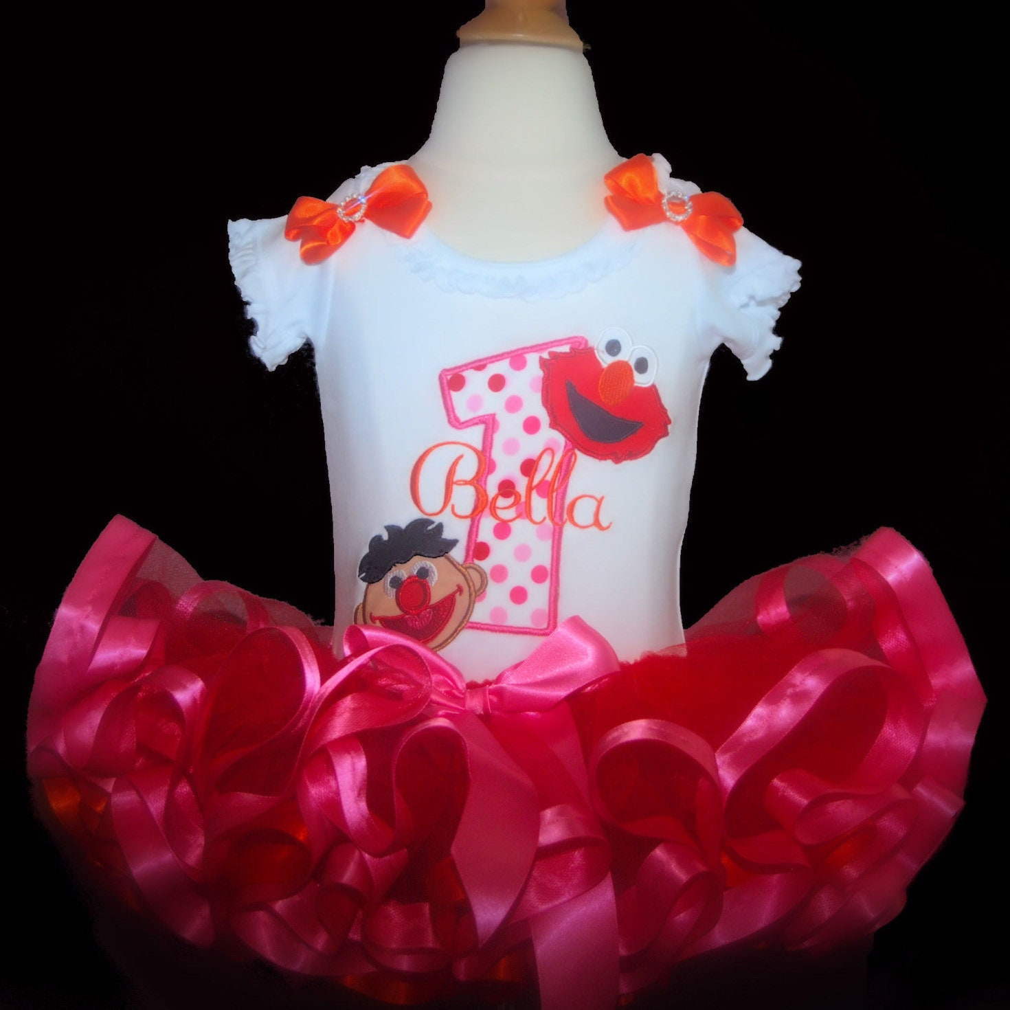 Elmo birthday outfit girl 1st birthday tutu outfit first birthday outfit girl toddler tutu baby 1st birthday personalized tutu dress elmo