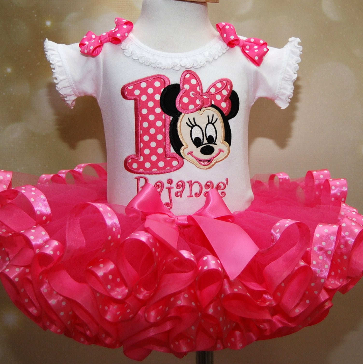 Minnie Mouse, birthday outfit, 1st birthday, tutu outfit, baby minnie mouse birthday dress, first birthday tutu outfit, pink birthday tutu