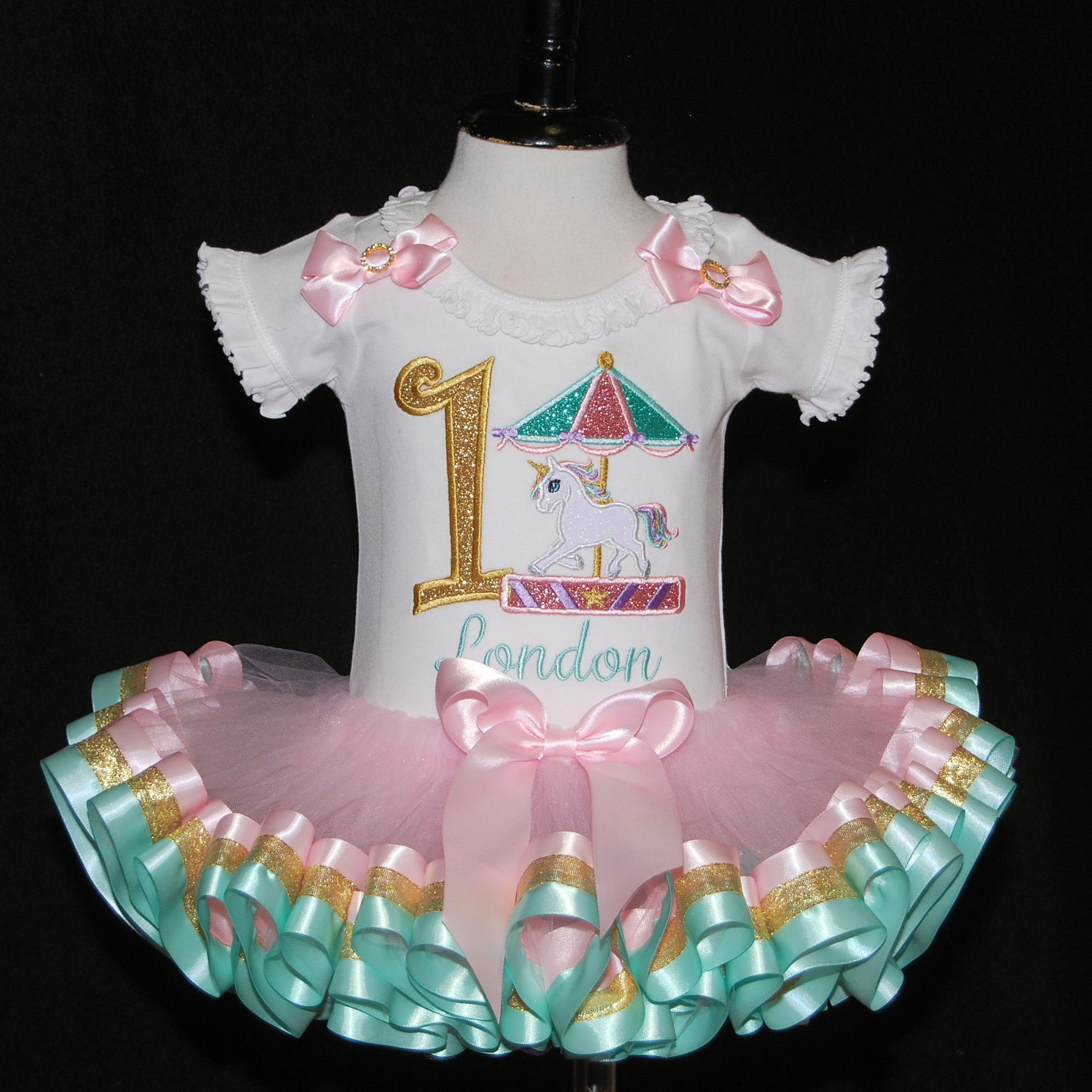 Unicorn 1st birthday girl outfit unicorn birthday tutu personalized tutu dress unicorn cake smash unicorn party dress baby girl's clothing