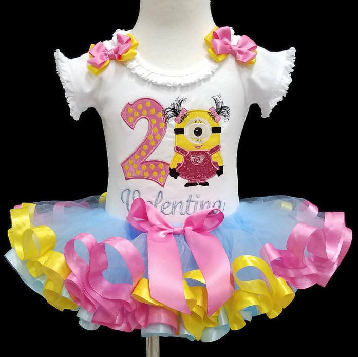 2nd birthday girl outfit, second birthday tutu outfit, personalized birthday tutu. cake smash outfit, birthday dress, ribbon trimmed tutu