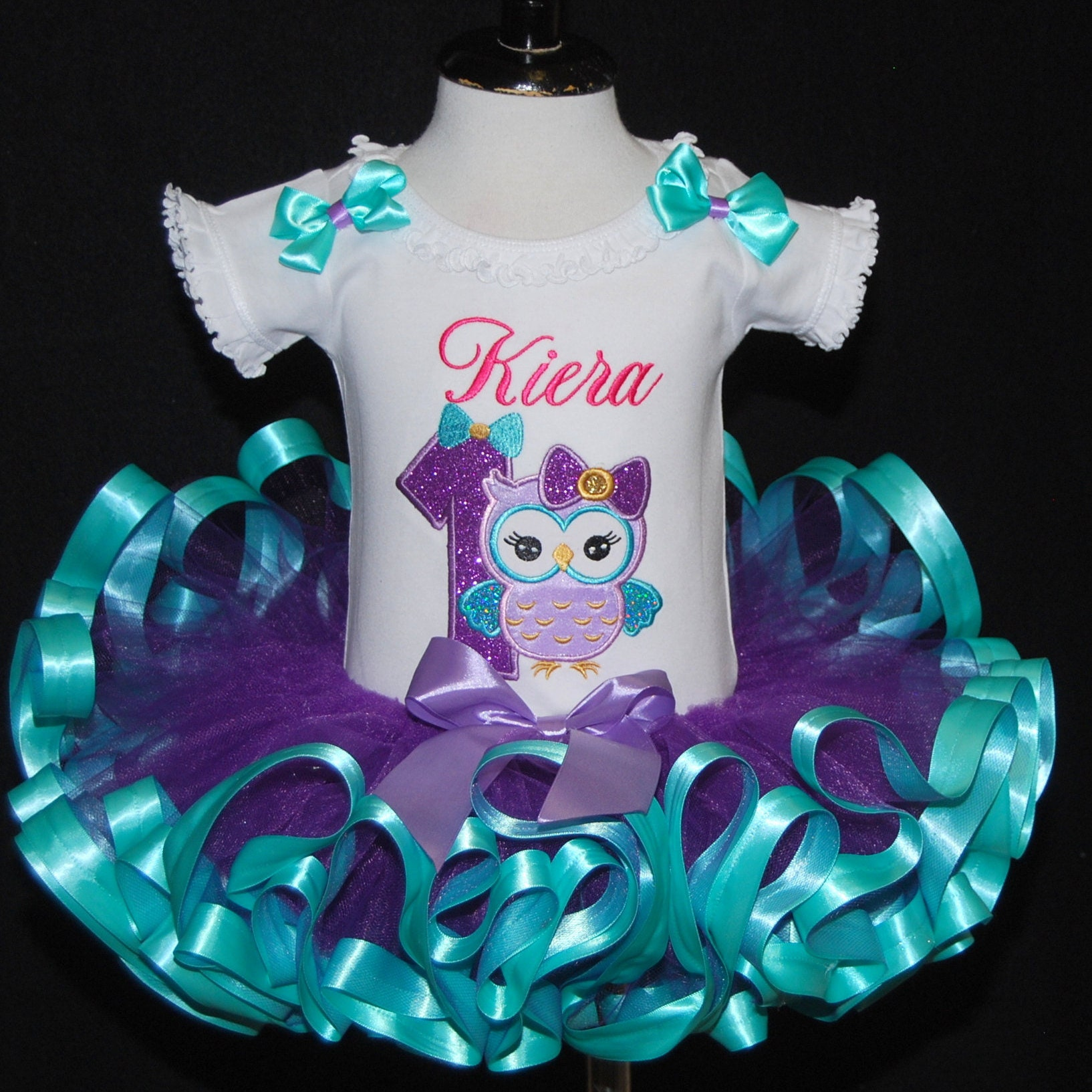 1st birthday girl outfit Owl Tutu