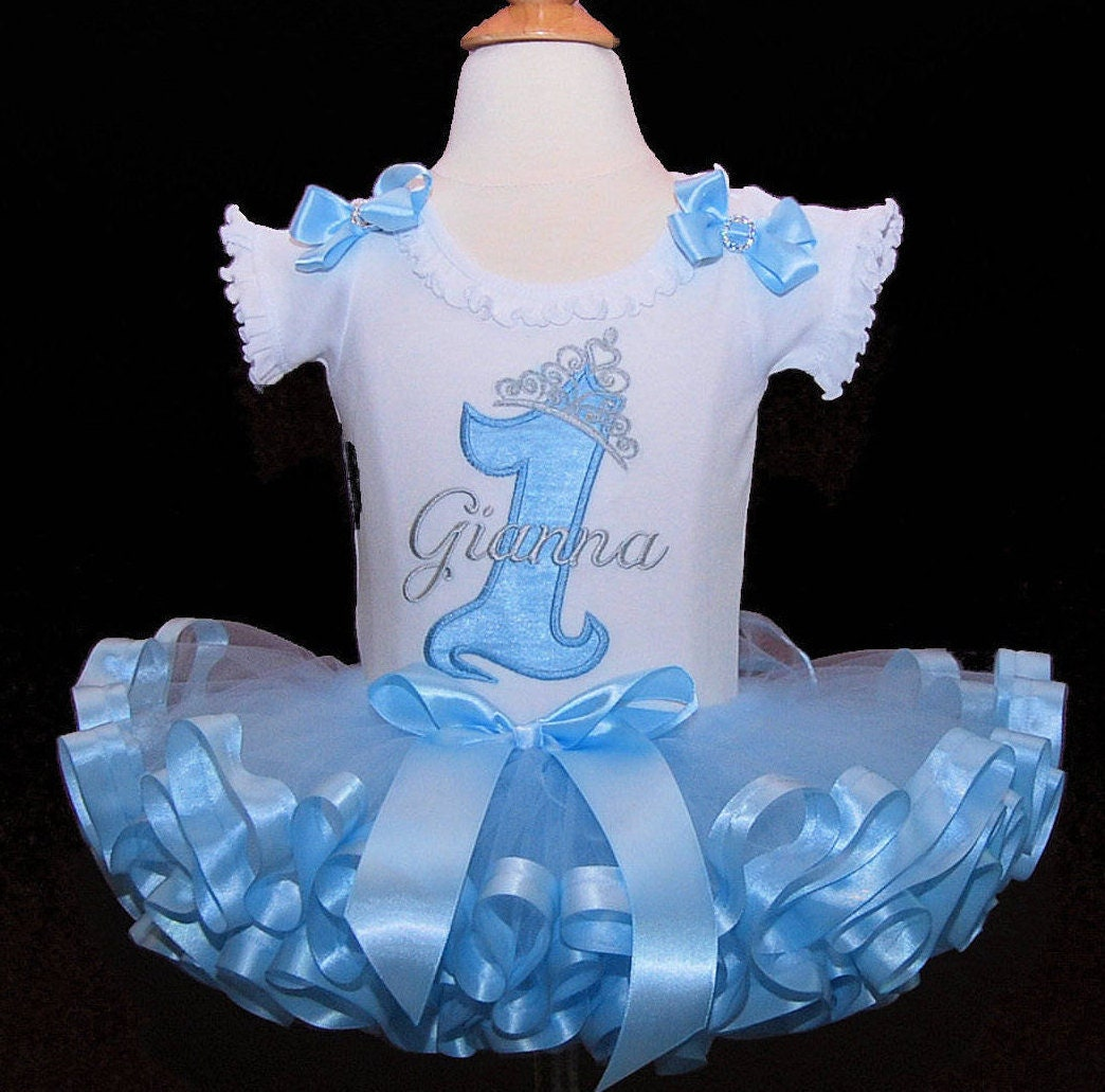 1st Birthday girl outift Princess Birthday Outfit  crown tutu dress