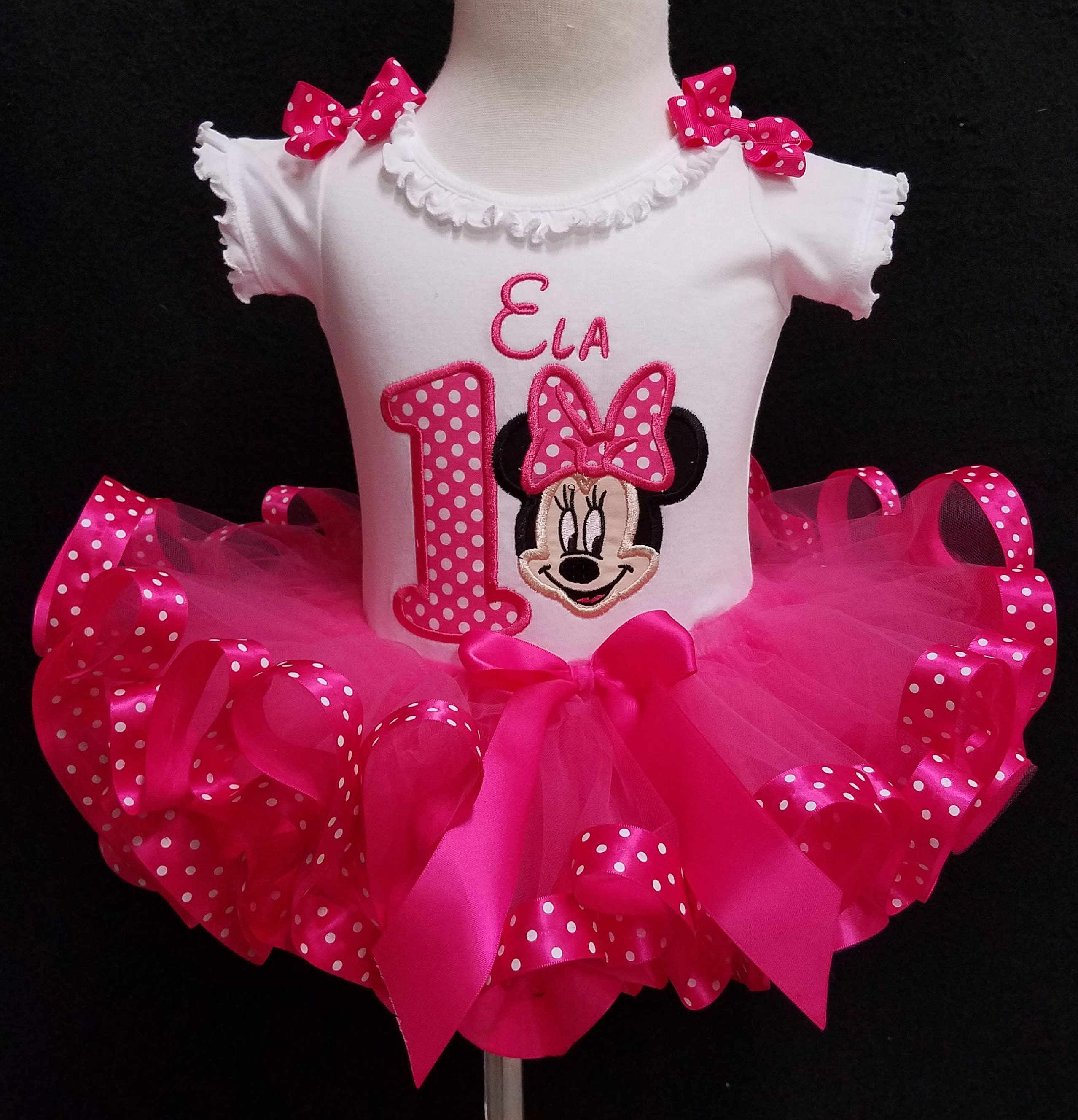 Minnie Mouse Birthday Outfit 1st birthday girl outfit 1st birthday outfit Minnie Mouse tutu personalized baby tutu first birthday baby girl