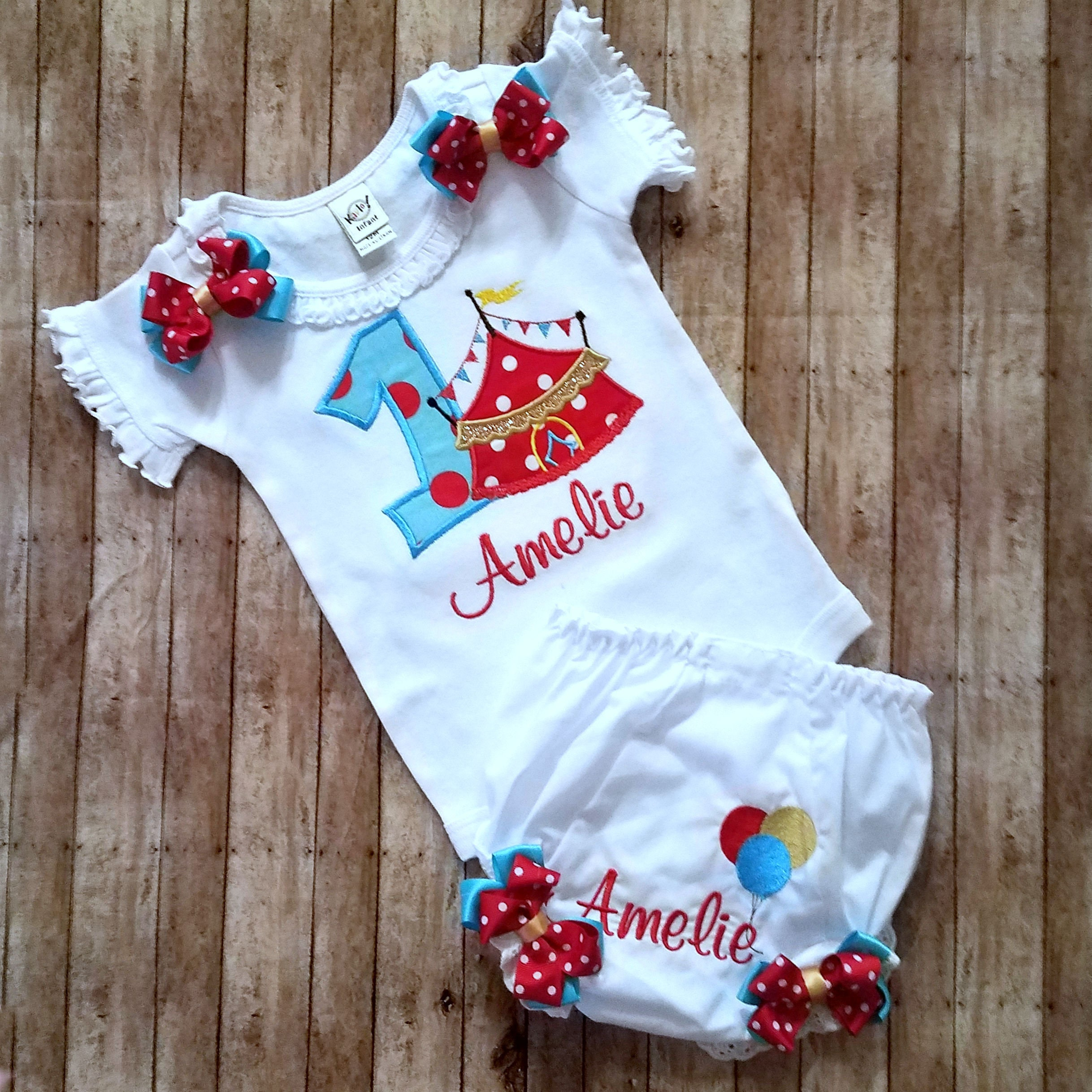 circus themed birthday outfit circus tent cake smash set 1st birthday outfit circus tent onesie bloomers baby 1st birthday set personalized