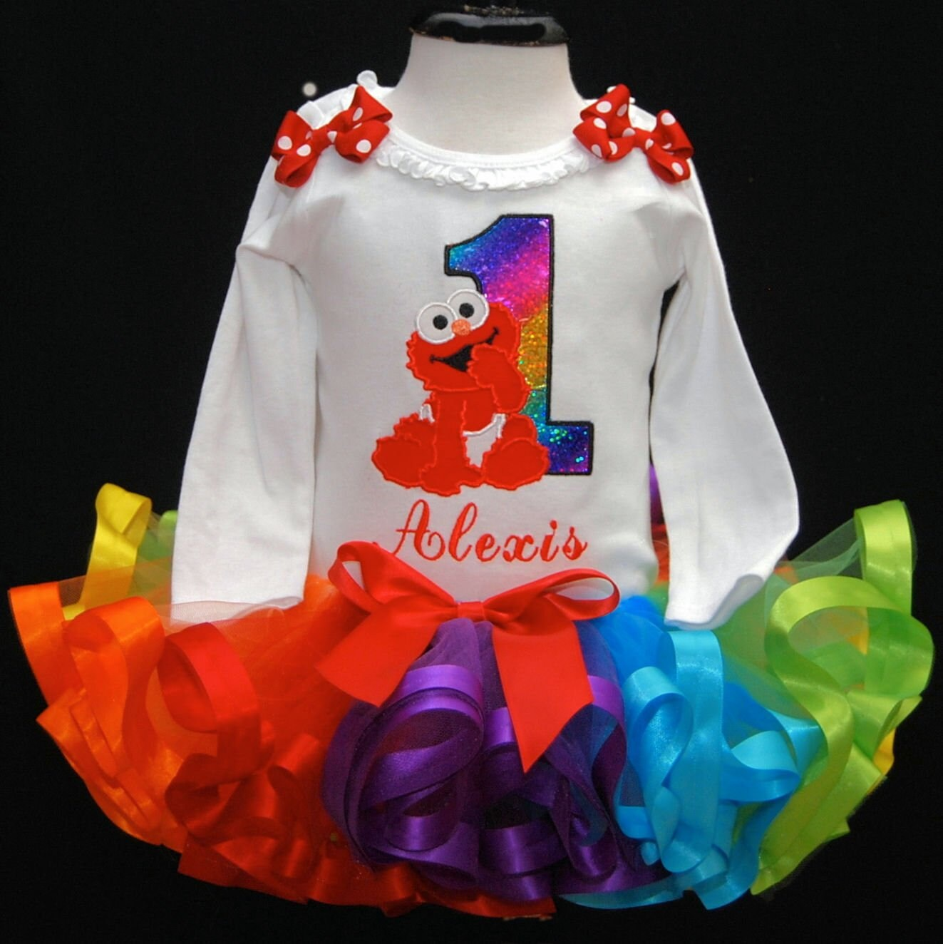 1st birthday girl outfit, baby Elmo