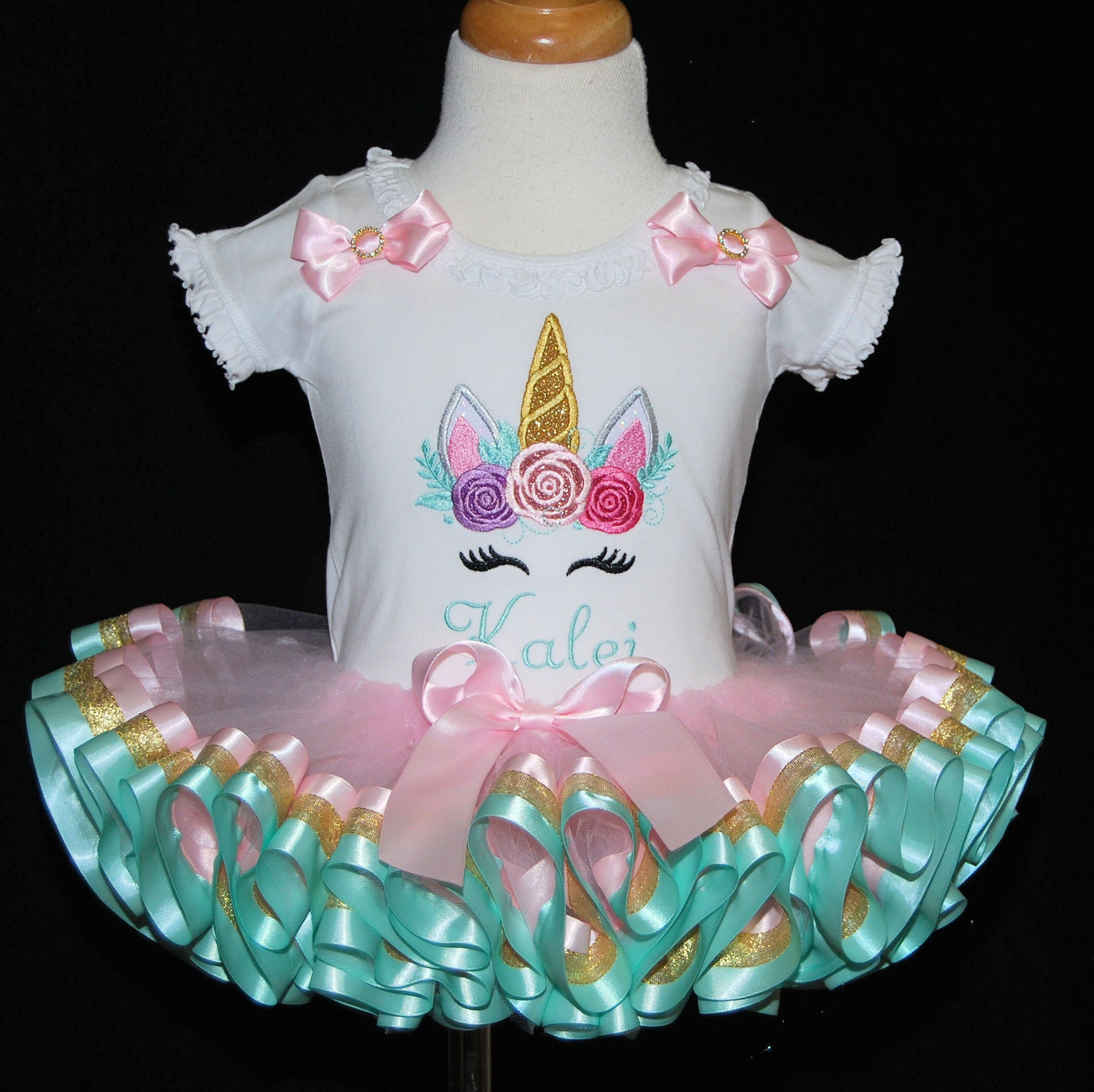 baby girl 1st birthday outfit, unicorn birthday outfit pastel tutu dress 1st birthday unicorn outfit personalized smash cake outfit girl