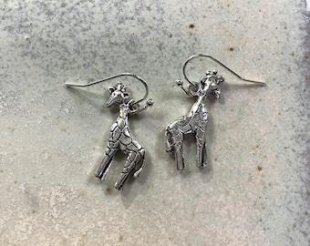 Giraffe earrings, wild animal jewellery, wildlife earrings, perfect for an animal lover, animal theme earrings