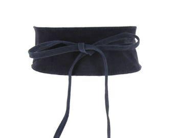 Velvet Leather Mahaut Obi Belt.