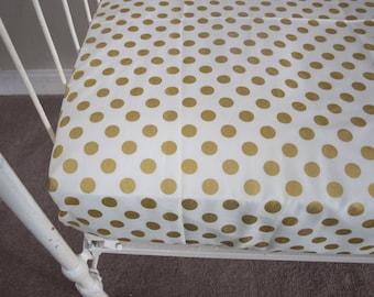 Fresh Sunshine Polka Dot Fitted Crib Sheet