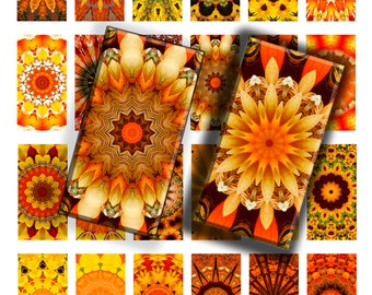 Fall Domino Shape Decor 1x2 Inch Digital Collage Sheet