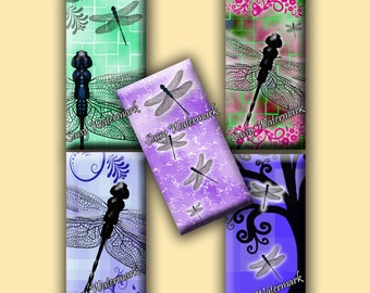 Dragonfly 1x2 Inch Domino Collage Sheet Pendant