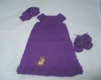 Infant dress/tunic (purple / pony)
