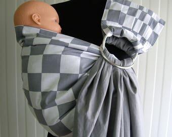 e449d184521e Anneau de Sling Ring Baby Carrier réversible Baby Baby Sling   gris,  couleur blanche