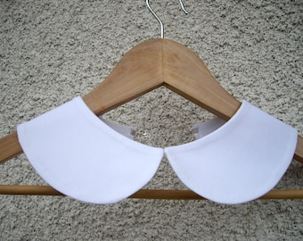 Peter Pan Collar Necklace,Detachable  White Collar,Halloween Costume Ideas,Hand Made From Fine Cotton Fabric