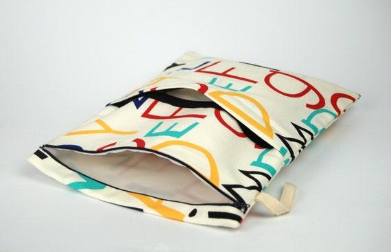 Sac à couches, humide, sec/humide Nappy, résistant à l'eau sac sac avec deux poches à fermeture éclair