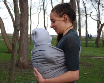 Baby Sling Rings ,Gray Baby Sling,Baby Carrier,Baby Wrap Sling ,Baby Sling, Baby Gift, Affordable Baby Sling!