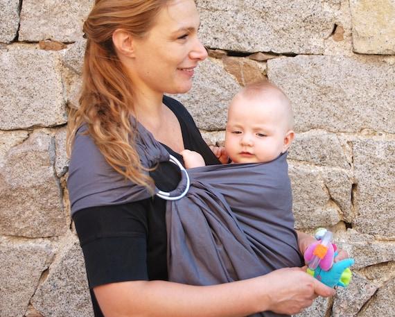 Gris bébé Sling Baby Sling anneaux porte-bébé porte-bébé   Etsy 0a0457c8f65